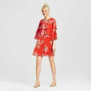 Who What Wear Ruffle Floral Dress